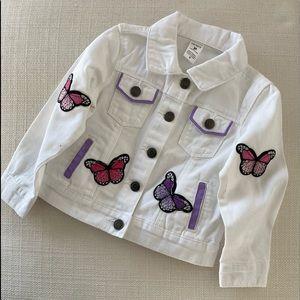 Toddler jean jacket embellished